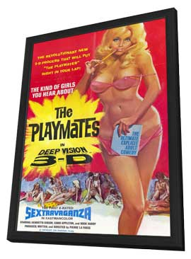 Playmates in Deep Vision 3-D - 11 x 17 Movie Poster - Style A - in Deluxe Wood Frame