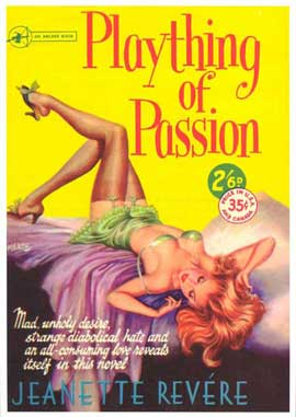Plaything of Passion - 11 x 17 Retro Book Cover Poster