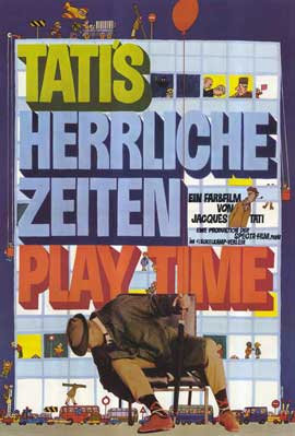 Playtime - 11 x 17 Movie Poster - German Style A