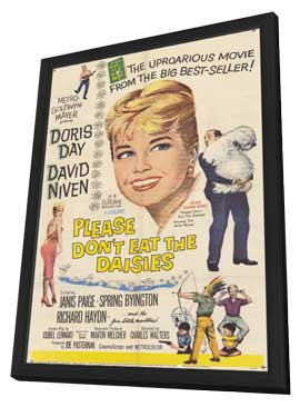 Please Don't Eat the Daisies - 11 x 17 Movie Poster - Style A - in Deluxe Wood Frame