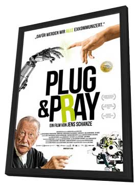 Plug & Pray - 11 x 17 Movie Poster - German Style A - in Deluxe Wood Frame