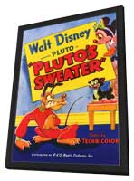 Pluto's Sweater - 11 x 17 Movie Poster - Style A - in Deluxe Wood Frame