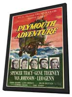 Plymouth Adventure - 11 x 17 Movie Poster - Style A - in Deluxe Wood Frame