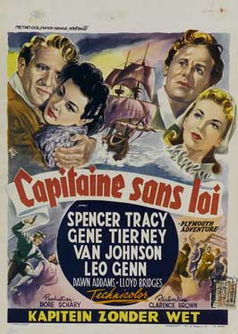 Plymouth Adventure - 11 x 17 Movie Poster - Belgian Style A