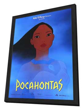 Pocahontas - 27 x 40 Movie Poster - Style A - in Deluxe Wood Frame