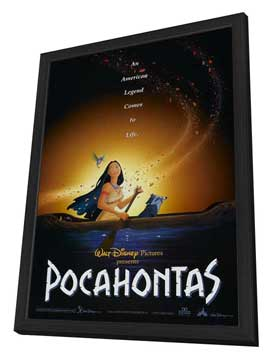 Pocahontas - 27 x 40 Movie Poster - Style C - in Deluxe Wood Frame