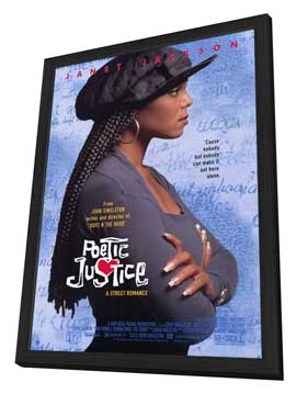 Poetic Justice - 11 x 17 Movie Poster - Style A - in Deluxe Wood Frame