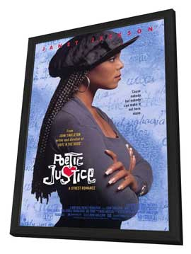 Poetic Justice - 27 x 40 Movie Poster - Style A - in Deluxe Wood Frame