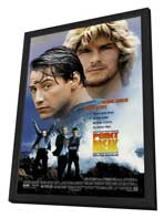 Point Break - 27 x 40 Movie Poster - Style C - in Deluxe Wood Frame