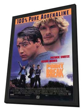 Point Break - 27 x 40 Movie Poster - Style A - in Deluxe Wood Frame