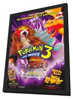 Pokemon 3: The Movie - 27 x 40 Movie Poster - Style A - in Deluxe Wood Frame