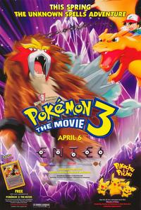 Pokemon 3: The Movie - 27 x 40 Movie Poster - Style A