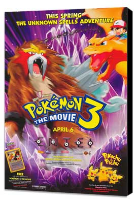 Pokemon 3: The Movie - 11 x 17 Movie Poster - Style A - Museum Wrapped Canvas