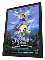 Pokemon 4ever - 27 x 40 Movie Poster - Style A - in Deluxe Wood Frame