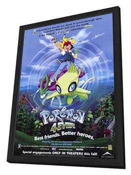 Pokemon 4ever - 11 x 17 Movie Poster - Style A - in Deluxe Wood Frame