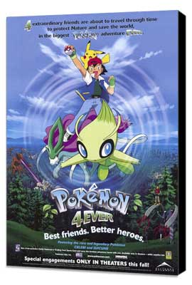 Pokemon 4ever - 27 x 40 Movie Poster - Style A - Museum Wrapped Canvas
