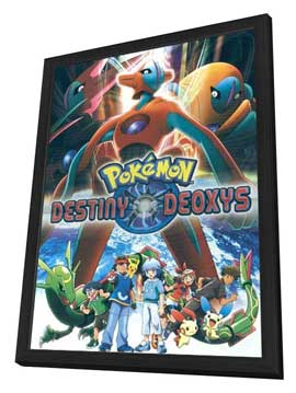 Pokemon: Destiny Deoxys - 11 x 17 Movie Poster - Style A - in Deluxe Wood Frame