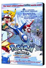 Pokemon Heroes - 11 x 17 Movie Poster - Style A - Museum Wrapped Canvas