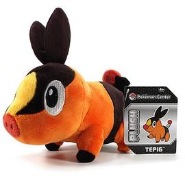 Pokemon - Center Black and White Tepig Plush