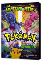 Pokemon: The First Movie - 27 x 40 Movie Poster - Style A - Museum Wrapped Canvas