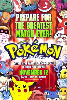 Pokemon: The First Movie - 27 x 40 Movie Poster - Style B