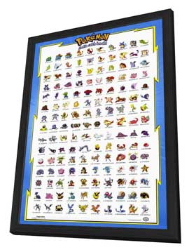 Pokemon: The First Movie - 11 x 17 Movie Poster - Style A - in Deluxe Wood Frame