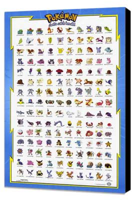 Pokemon: The First Movie - 11 x 17 Movie Poster - Style A - Museum Wrapped Canvas