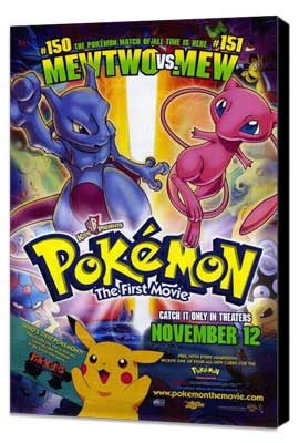 Pokemon: The First Movie - 11 x 17 Movie Poster - Style B - Museum Wrapped Canvas