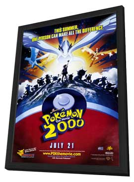 Pokemon the Movie 2000: The Power of One - 27 x 40 Movie Poster - Style A - in Deluxe Wood Frame