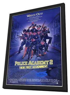 Police Academy 2: Their First Assignment - 11 x 17 Movie Poster - Style A - in Deluxe Wood Frame