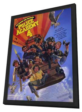 Police Academy 4: Citizens on Patrol - 11 x 17 Movie Poster - Style A - in Deluxe Wood Frame
