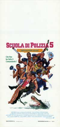 Police Academy 5: Assignment Miami Beach - 13 x 28 Movie Poster - Italian Style A