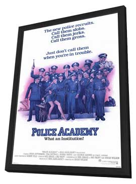 Police Academy - 27 x 40 Movie Poster - Style A - in Deluxe Wood Frame