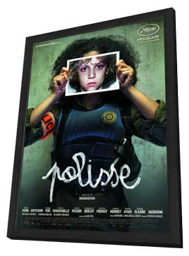 Polisse - 11 x 17 Movie Poster - French Style B - in Deluxe Wood Frame