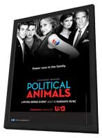 Political Animals (TV) - 11 x 17 TV Poster - Style A - in Deluxe Wood Frame