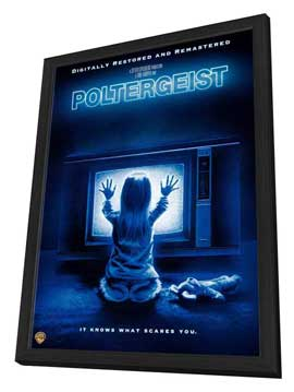 Poltergeist - 27 x 40 Movie Poster - Style E - in Deluxe Wood Frame