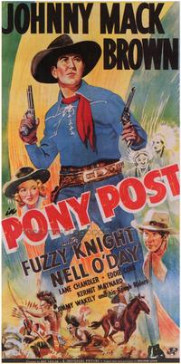 Pony Post - 43 x 62 Movie Poster - Bus Shelter Style A