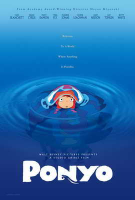 Ponyo on the Cliff by the Sea - 27 x 40 Movie Poster - Style A