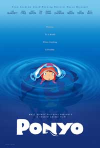 Ponyo on the Cliff by the Sea - 43 x 62 Movie Poster - Bus Shelter Style A