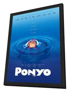 Ponyo on the Cliff by the Sea - 11 x 17 Movie Poster - Style A - in Deluxe Wood Frame