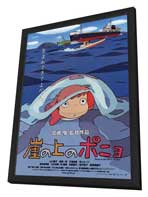 Ponyo on the Cliff - 27 x 40 Movie Poster - Japanese Style B - in Deluxe Wood Frame