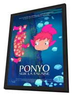Ponyo on the Cliff - 27 x 40 Movie Poster - French Style B - in Deluxe Wood Frame