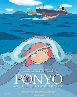 Ponyo on the Cliff - 11 x 17 Movie Poster - Belgian Style A