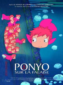 Ponyo on the Cliff - 11 x 17 Movie Poster - French Style B