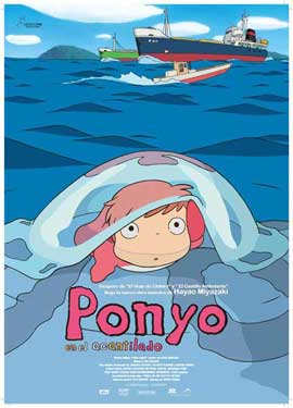 Ponyo on the Cliff - 11 x 17 Movie Poster - Spanish Style A
