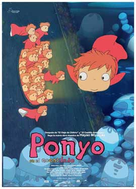 Ponyo on the Cliff - 11 x 17 Movie Poster - Spanish Style B