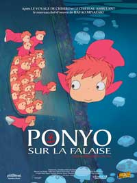 Ponyo on the Cliff - 11 x 17 Movie Poster - Belgian Style B