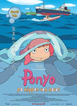 Ponyo on the Cliff - 11 x 17 Movie Poster - Danish Style A