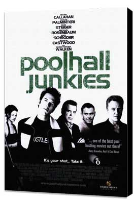 Poolhall Junkies - 11 x 17 Movie Poster - Style A - Museum Wrapped Canvas