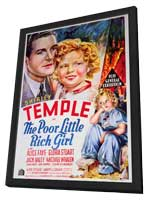 Poor Little Rich Girl - 11 x 17 Movie Poster - Style A - in Deluxe Wood Frame